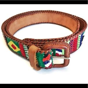 Accessories - Mexican Leather Embroidered Belt